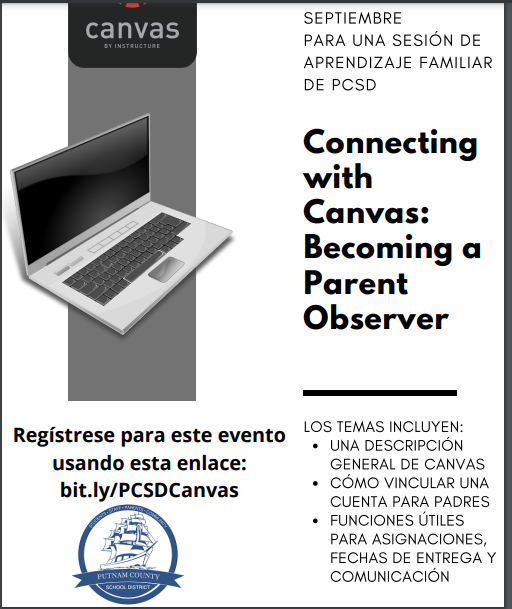 Spanish Translation Friday Family Learning Bytes - Sept. 4th, Connecting with Canvas