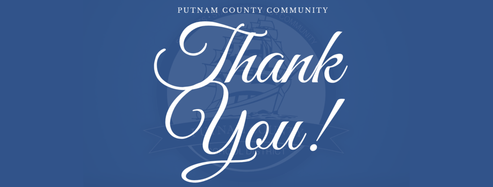 Thank you PUTNAM COUNTY!