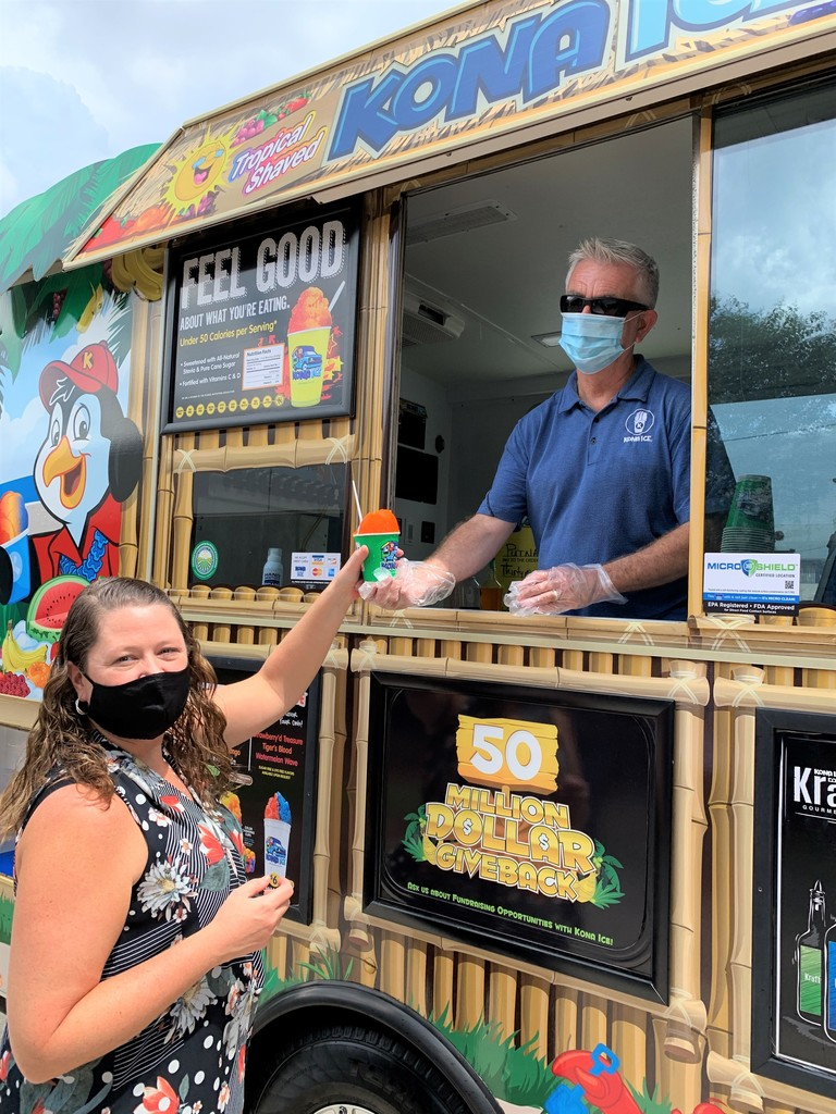 District Employees Enjoying Kona Ice